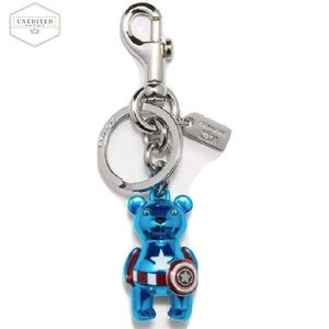 🆕 COACH Marvel Captain America Bear Bag Charm